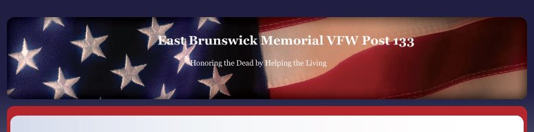 East Brunswick Memorial VFW Post 133 - Honoring the Dead by Helping the Living